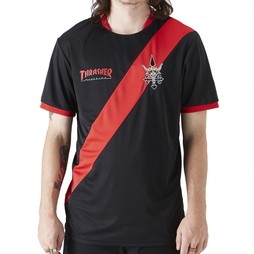 Футболка THRASHER THRASHER FUTBOL JERSEY BLACK/RED