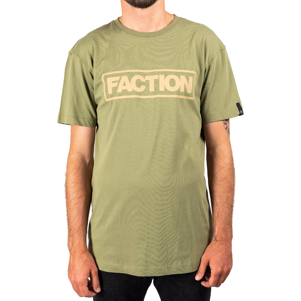 Футболка FACTION LOGO T-SHIRT LODEN GREEN