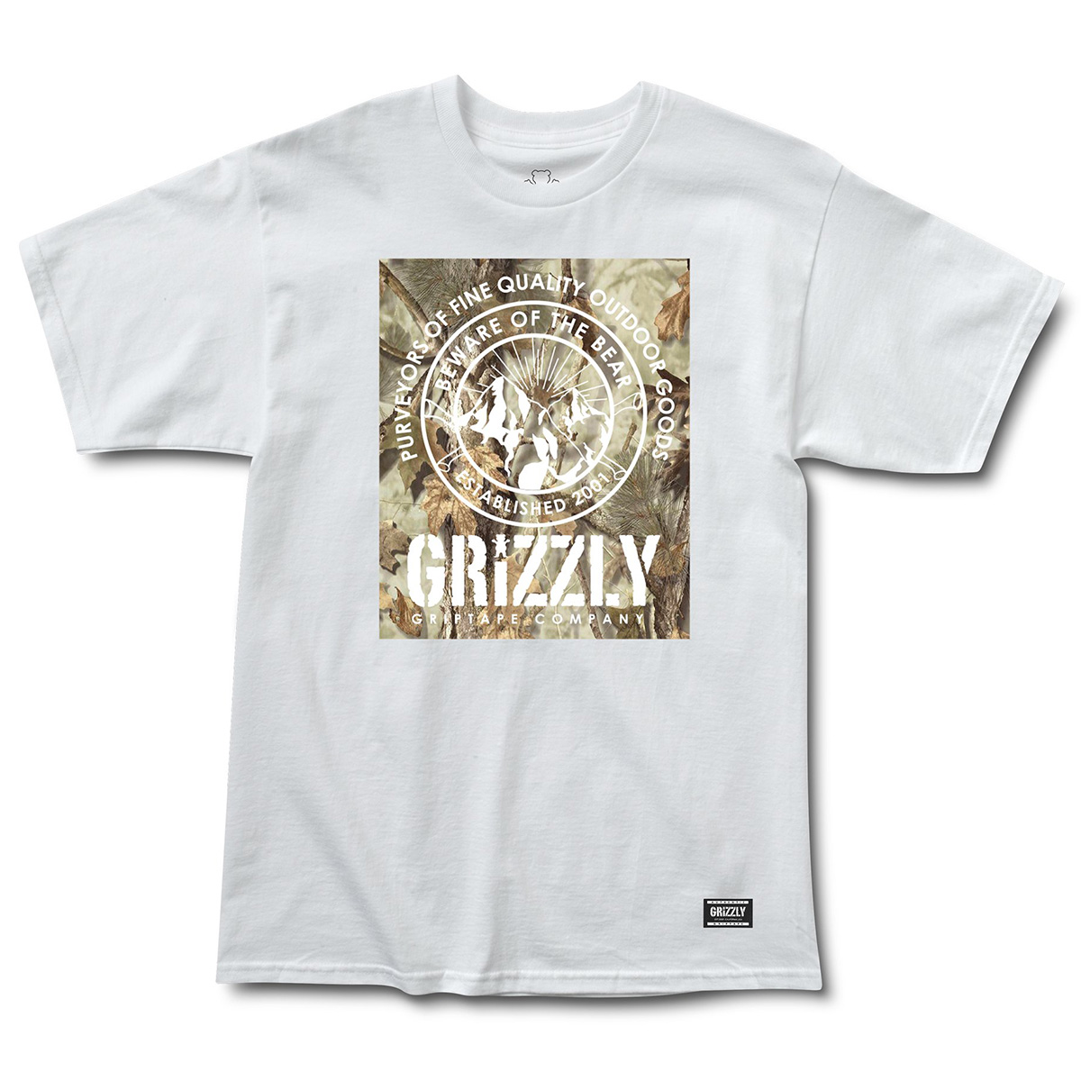 Футболка GRIZZLY TERRIAN S/S TEE White