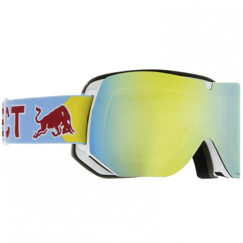 Маска SPECT RED BULL Clyde WHITE/YELLOW SNOW, GREY WITH YELLOW MIRROR